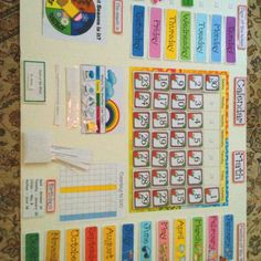 Preschool board is done.- Mary I like the seasons part and a list of all the birthdays.
