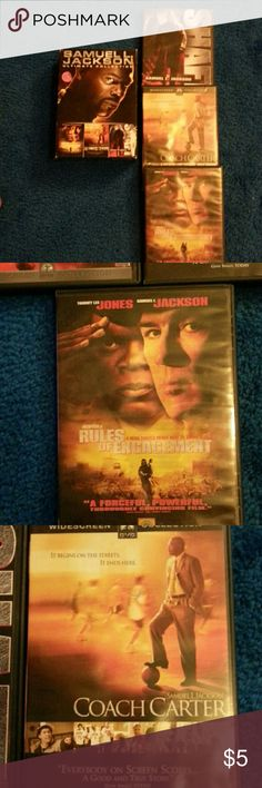 Samuel L. Jackson 3 movie dvd set 3 Samuel L. Jackson movies.Like new, never been watched. Box has some wear and tear. Great collection! Left over from yard sale. Other
