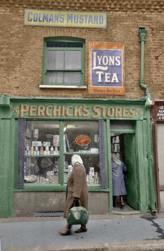 Perchicks Stores in Old Montague Street, Whitechapel in East London Shop Fronts, East London, Britain, The Past, Image, Swings, England, Street, Life