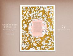 "https://flic.kr/p/p3Sg32 | Cherry Tree Branches heirloom papercut ketubah | Handmade heirloom papercut  Fits perfectly for Orthodox ceremonies  Size: 18X24"" Seen here in Light Gold & Rose colors  Available in the shop"