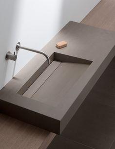 Wash Basins & Shower Drains - Elements Collection from Mosa Lavabo Design, Sink Design, Modern Bathroom Decor, Bathroom Interior Design, Interior Paint, Bad Inspiration, Bathroom Inspiration, Lavabo Corian, Toilette Design