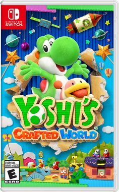 Nintendo has shared the European boxart for Yoshi's Crafted World. Have a look at the packaging image above. Yoshi's Crafted World launches worldwide on March Super Mario Party, New Super Mario Bros, Super Smash Bros, Nintendo 3ds, Nintendo Switch Games, Super Nintendo, Mario Kart, Yoshi, Donkey Kong