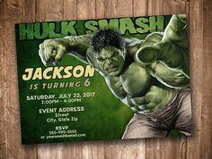 Hulk Smash Invitation Personalized Digital Printable