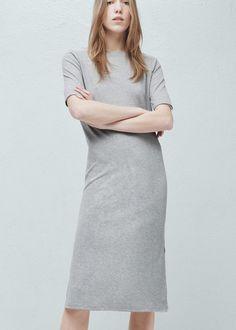 Ribbed long dress - Dresses for Women | MANGO
