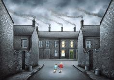 Rolling Home from Leigh Lambert available now from Evergreen Art Cafe talk to us today about our Free Delivery and Finance options on 01327 878117 Leigh Lambert, Art Cafe, Art Uk, Naive Art, Newcastle, Evergreen, Contemporary Art, Art Gallery, Mansions