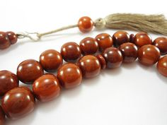 Islamic Prayer Beads Muslim Prayer Beads Amber Prayer by Tesbihci, $22.99