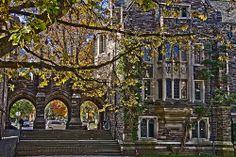 Princeton University: Triple Arches between Henry Hall, left, and Foulke Hall, right