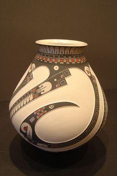 """Mata Ortiz Large Pot - Hand made pottery, 8"""" x 8"""" x 9"""""""