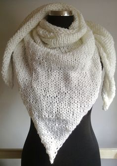 big white #handknitted #kerchief for cold winter days ^^ KrisztiKecskes - fall/winter 2014