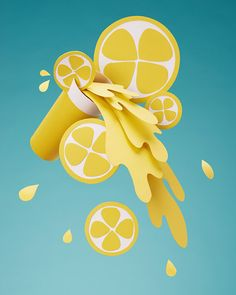 Paper lemonade by Adrian & Gidi, via Behance