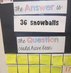 Start with the answer... can sudents brainstorm different problems?