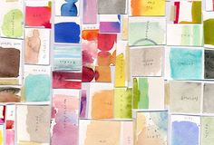 Maria Carluccio created a new art piece from chopped up old watercolour paintings.