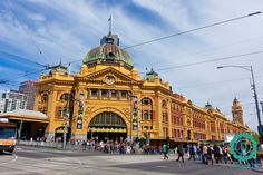 Dworzec kolejowy przy Flinders Street, Melbourne.  #australia #melbourne #travel #podróże