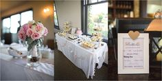 adorable little sweets table for a rustic wedding