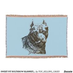 SWEET PIT BULTHROW BLANKET, WRAP YOUR DOG AND YOU! THROW BLANKET