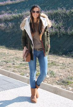 Parka outfit minus the uggs