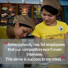 Hagar partners with businesses who have a greater vision than simply generating profit. Joma Cafe and Bakery is just one excellent example. http://hagarinternational.org/international/joma-bakery-cafe-social-enterprise-spotlight/