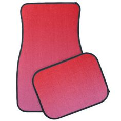 """""""Red And Pink Ombre"""" Floor Mat"""
