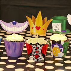 Alice in Wonderland Cupcake Wrappers
