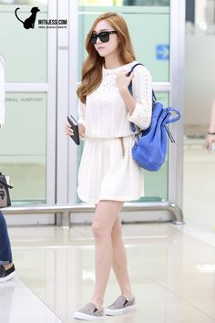 140630 jessica's airport fashion-my beauty queen! Snsd Fashion, Korea Fashion, Girl Fashion, Fashion Outfits, Womens Fashion, Fashion Design, Fashion Photo, Kpop Outfits, Korean Outfits
