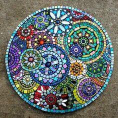 Mosaic by Plum Art Mosaics 2014 (Sharon Plummer) MásDecorating Blue Mosaic Outdoor Table Mosaic Tile Centerpieces Garden Mosaic Tiles The Inspiration of Mosaic Table Ideas White.mosaic table top best mosaic table tops ideas on mosaic outdoor best mo Table Mosaic, Mosaic Outdoor Table, Mosaic Wall, Mosaic Glass Art, Wall Tiles, Mosaic Pots, Mosaic Mirrors, Mosaic Crafts, Mosaic Projects