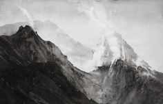 I found this at the Royal Academy Summer Exhibition 2016  865 - STROMBOLI CRATER Type Drawing in Ink, charcoal dust and volcanic ash Size XL 182 x 124 x 4 cm It was sold but the artist could be commissioned to do something with more colour? It was stunning in the flesh and so big.