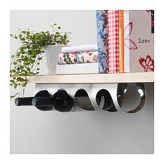 VURM 4-bottle wine rack, stainless steel - IKEA