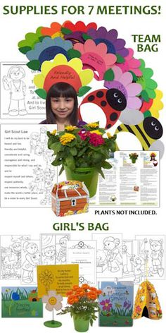 Get the Garden Adventure Badge in a Bag® for help with your troop's badge project. Complete kit available from www.makingfriends.com