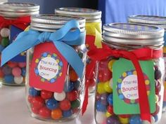 Are you planning a Bounce House party? Do you need ideas for party favors? We've found some great Bounce House party favor ideas that can be used for your upcoming party! Ball Theme Birthday, 1st Birthday Party Favors, Baby Boy 1st Birthday Party, Ball Birthday Parties, Birthday Celebration, Birthday Ideas, Party Favours, 11th Birthday, Party Gifts