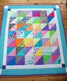 Pastel Lap or Baby Quilt Sherbert Ice Cream by MoranArtandQuilts, $65.00