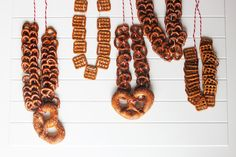 Pretzel necklaces are a great accessory at beer tasting events. Whenever you get a hunger pang or just want to clear your palette between tastings, simply reach down and bite off a pretzel.