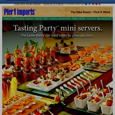 I think a Tasting Party with Movie-Themed food for an Oscar Party. Mini Appetizers, Wedding Appetizers, Snacks Für Party, Party Fun, Party Ideas, Fingers Food, Tasting Menu, Food Displays, Mini Foods