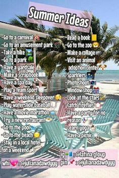 summer bucket list Gefllt dir was du siehst Folgen Sie Yagirl. Summer Bucket List For Teens, Summer Fun List, Summer Goals, Girl Life Hacks, Girls Life, Pop, Glow Up Tips, Things To Do When Bored, Summer Glow