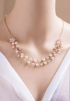 Bridal necklace, Bridal jewelry, Swarovski necklace PALOMA