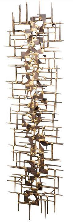 Brutalist art wall sculpture