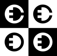 EV charger symbols