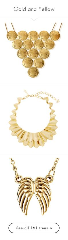"""""""Gold and Yellow"""" by olga1402 ❤ liked on Polyvore featuring jewelry, necklaces, gold, yellow gold necklace, gold jewelry, yellow gold jewelry, chlobo, gold necklace, gold tone jewelry and brass jewelry"""