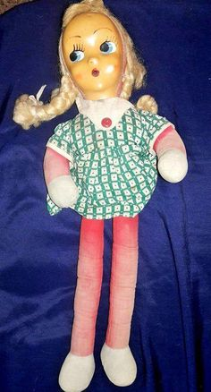 1930s Straw Doll Antique/ Vintage