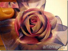 Organza Ribbon Rose - Tutorial