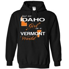 IDAHO VERMONT GIRL T-Shirts, Hoodies. CHECK PRICE ==► https://www.sunfrog.com/Valentines/V3-2DIDAHO-2DVERMONT-girl-Black-Hoodie.html?id=41382