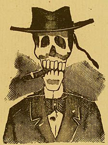 """Calavera Poncianista"" By Jose Guadalupe Posada - Inspired by Danse Macabre"