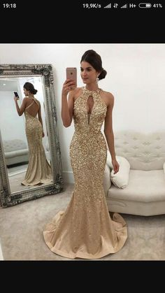 Mermaid Dresses Wedding Inspirational Sparkle Heavy Beaded Mermaid Open Back Inexpensive Long Prom Dresses Gorgeous Prom Dresses, Gold Prom Dresses, Prom Dresses For Sale, Satin Dresses, Sexy Dresses, Formal Dresses, Gold Formal Dress, Long Dresses, Elegant Gold Dress