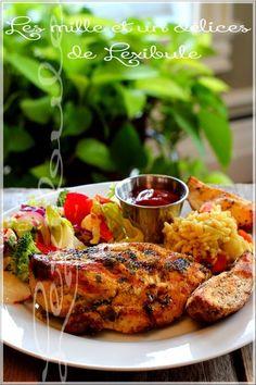 Faites entrer l'exotisme dans votre assiette avec cette recette délicieusement étonnante! ;) ~Note: Vous aurez compris que la recette es... Tandoori Chicken, Chicken Recipes, Bbq, Clean Eating, Food And Drink, Low Carb, Nutrition, Cooking, Ethnic Recipes