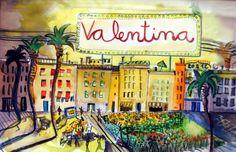 Valentina. nom il·lustrat per Sabrina Sampere. Personalitzat i únic.  http://sabrinasampere.blog.com