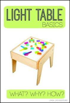 Light Table 101 : What an awesome tool for science, sensory play, math, and literacy in any classroom. Love this breakdown of the what, how and why of light table play