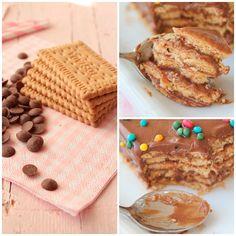 Tarta de Galletas y Crema de Chocolate Bakery Recipes, Dessert Recipes, Thomas Birthday Cakes, Delicious Desserts, Yummy Food, Candy Cakes, Easy Eat, Pastry Art, Mexican Dishes