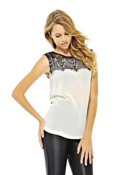lace panel top $41