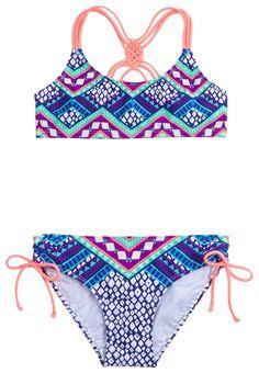 Printed Bikini Swimsuit (original price, $32.90) available at #Justice