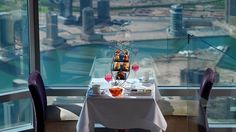 Still the world's tallest building, Burj Khalifa also offers the ultimate in haute cuisine at the At.mosphere restaurant 410 meters above the city.