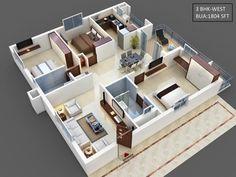 Alpine Heights [FLATS] - HIGH RISE APARTMENTS @kaja House Floor Design, Modern House Floor Plans, 3d House Plans, Sims House Design, Simple House Plans, House Layout Plans, Bungalow House Plans, Bungalow House Design, Family House Plans